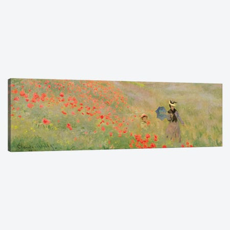 Wild Poppies, Near Argenteuil, 1873 Canvas Print #BMN7287} by Claude Monet Canvas Art Print
