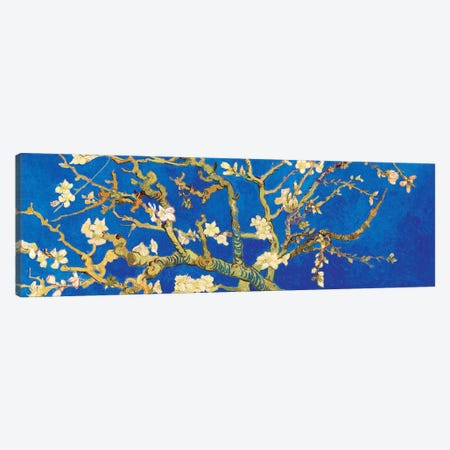 Almond Blossom On Royal Blue 3-Piece Canvas #BMN7289} by Vincent van Gogh Canvas Artwork