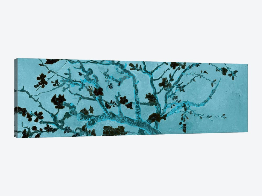 Almond Blossom On Teal by Vincent van Gogh 1-piece Canvas Print