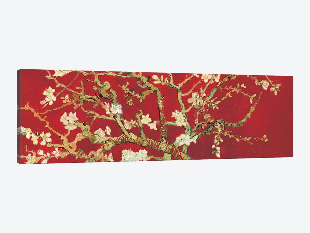 Almond Blossom On Red by Vincent van Gogh 1-piece Canvas Art