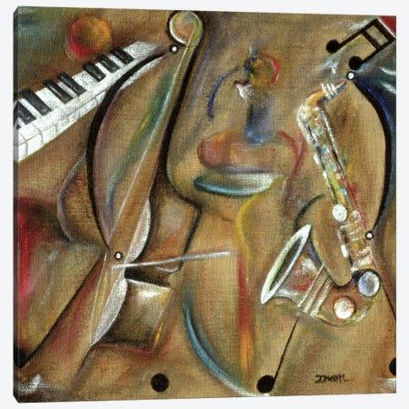 Burlap Sax Canvas Print #BMN7297} by Ikahl Beckford Canvas Art