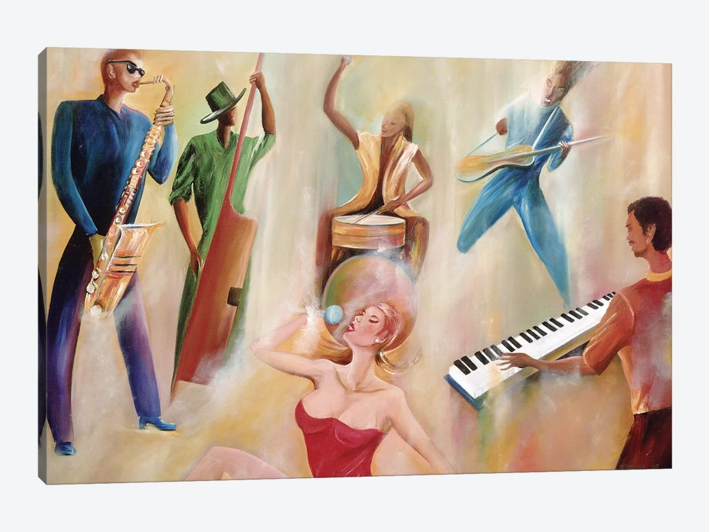 On Stage by Ikahl Beckford 1-piece Canvas Art Print