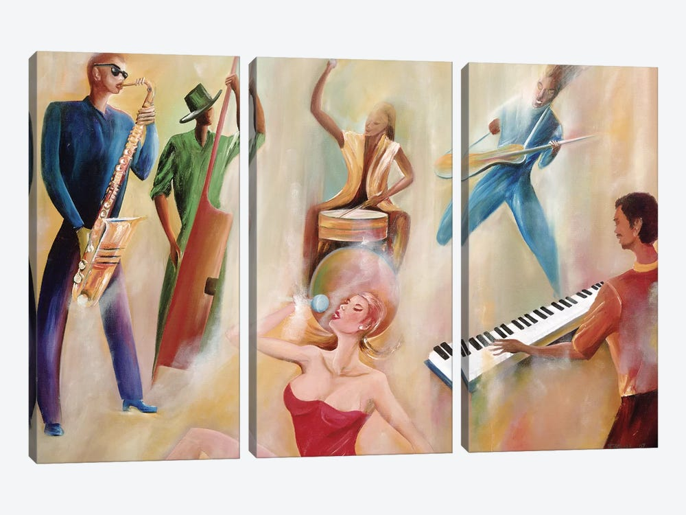 On Stage by Ikahl Beckford 3-piece Canvas Print