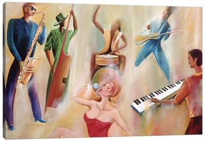 On Stage Canvas Art Print