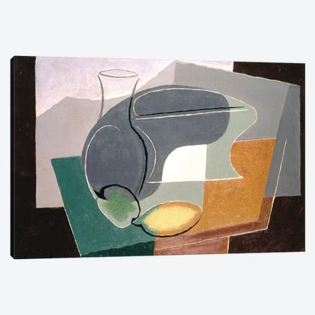 Fruit-dish and carafe, 1927 Canvas Print #BMN72} by Juan Gris Art Print