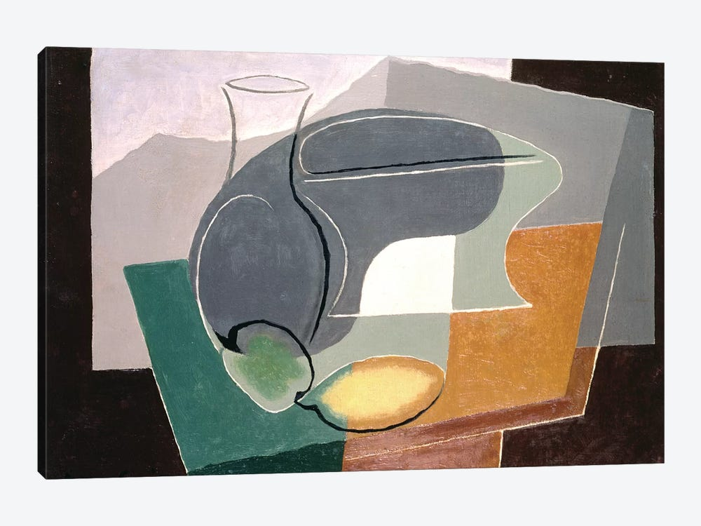 Fruit-dish and carafe, 1927 by Juan Gris 1-piece Canvas Art Print