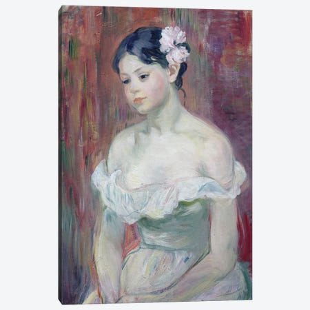 A Young Girl, 1893 Canvas Print #BMN7300} by Berthe Morisot Art Print
