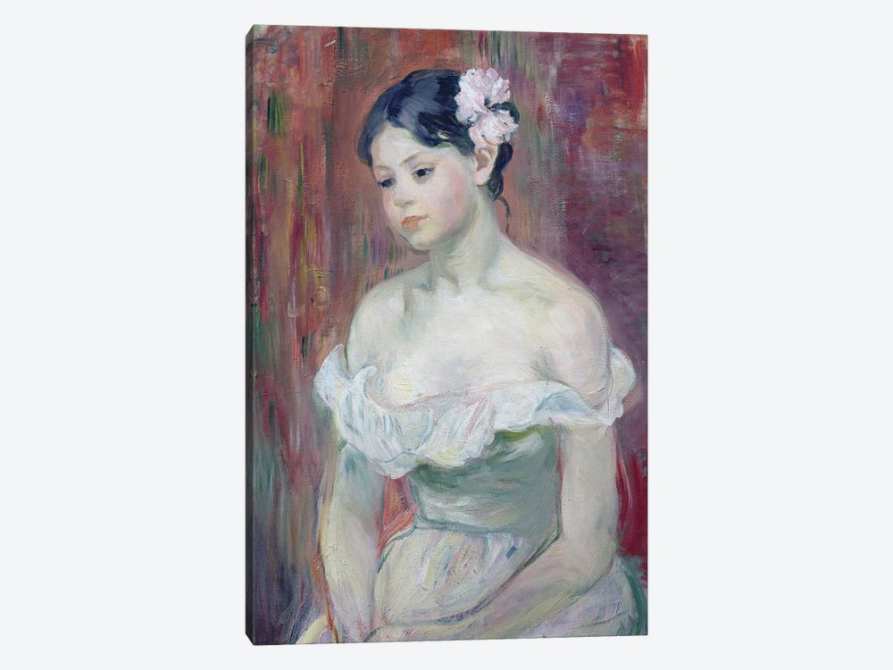 A Young Girl, 1893 by Berthe Morisot 1-piece Canvas Art Print