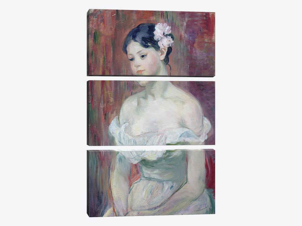 A Young Girl, 1893 by Berthe Morisot 3-piece Art Print
