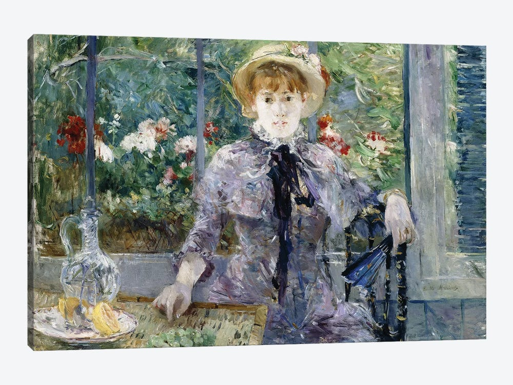 After Breakfast, 1881 by Berthe Morisot 1-piece Canvas Wall Art