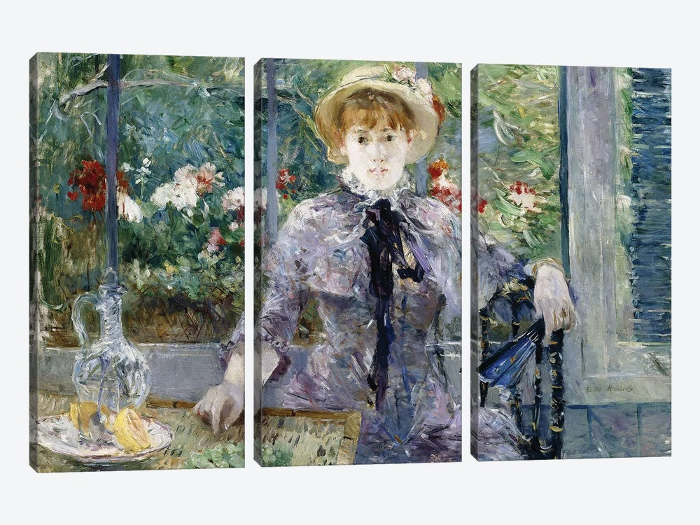After Breakfast, 1881 by Berthe Morisot 3-piece Canvas Art