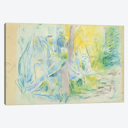 Aloes At Villa Ratti (Pastel On Paper), 1889 Canvas Print #BMN7303} by Berthe Morisot Art Print