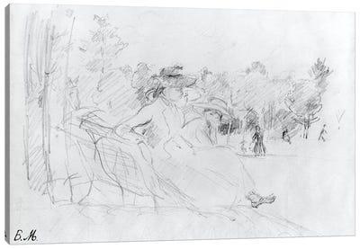 At The Bois de Boulogne, 1888 Canvas Art Print