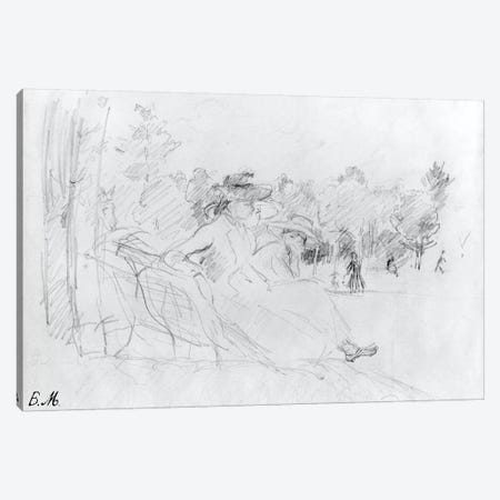 At The Bois de Boulogne, 1888 Canvas Print #BMN7305} by Berthe Morisot Canvas Art