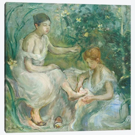Bath (Bain), 1894 Canvas Print #BMN7306} by Berthe Morisot Canvas Artwork