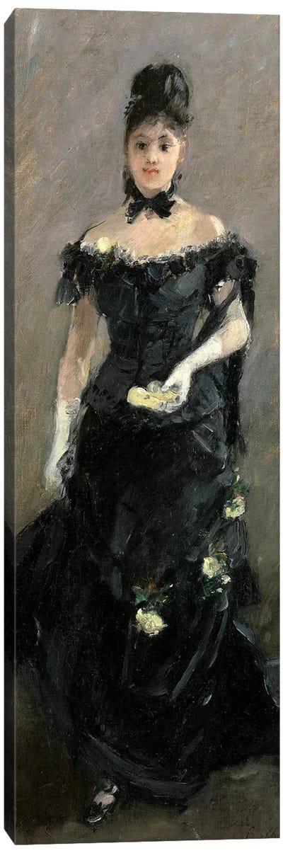 Femme en Noir (Avant le Theatre), 1875 Canvas Art Print