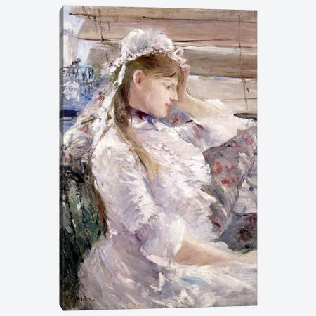 Profile Of A Seated Young Woman, 1879 Canvas Print #BMN7308} by Berthe Morisot Canvas Art Print