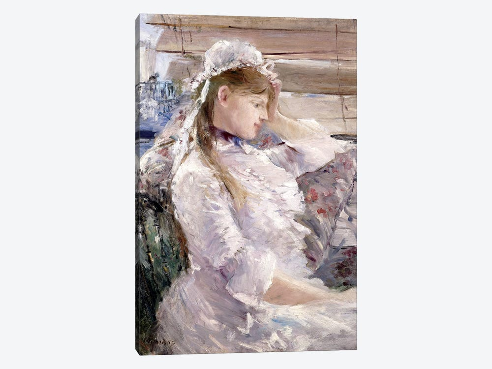 Profile Of A Seated Young Woman, 1879 by Berthe Morisot 1-piece Art Print