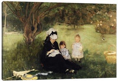 Beneath The Lilac At Maurecourt, 1874 Canvas Art Print