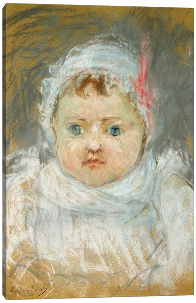 Bianche Pontillon As A Baby, 1872 Canvas Art Print