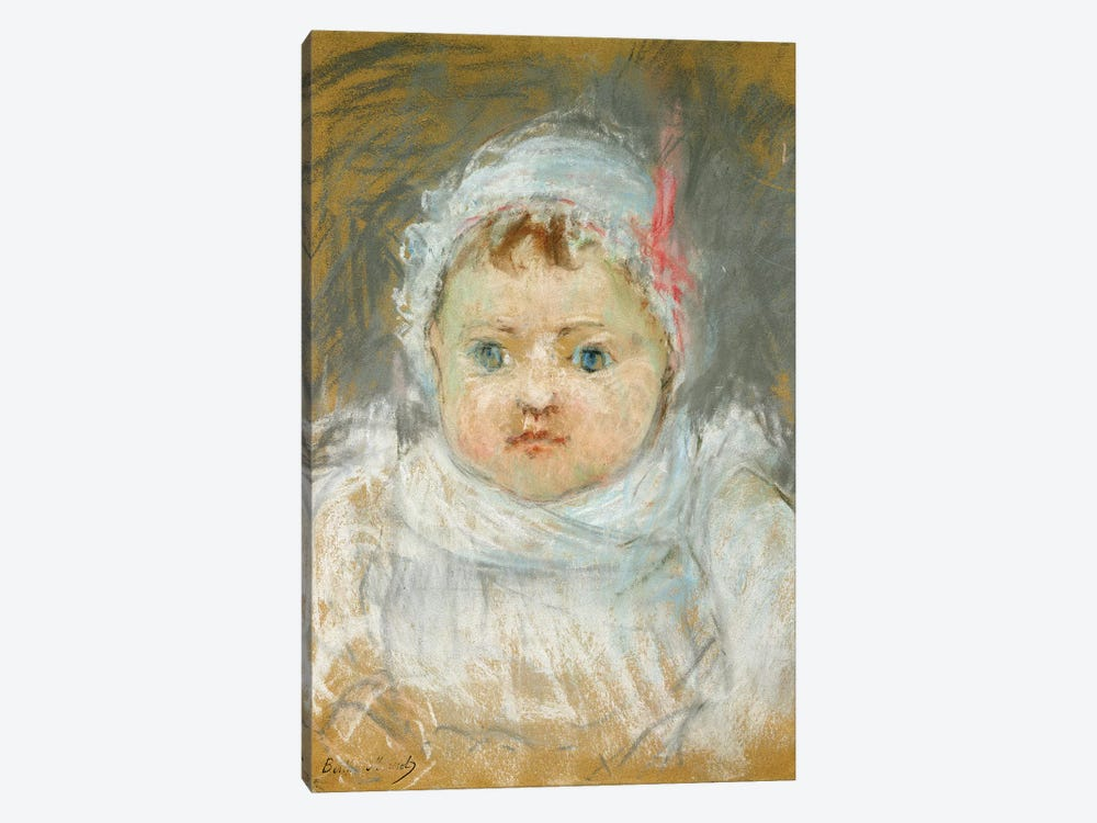 Bianche Pontillon As A Baby, 1872 by Berthe Morisot 1-piece Canvas Art