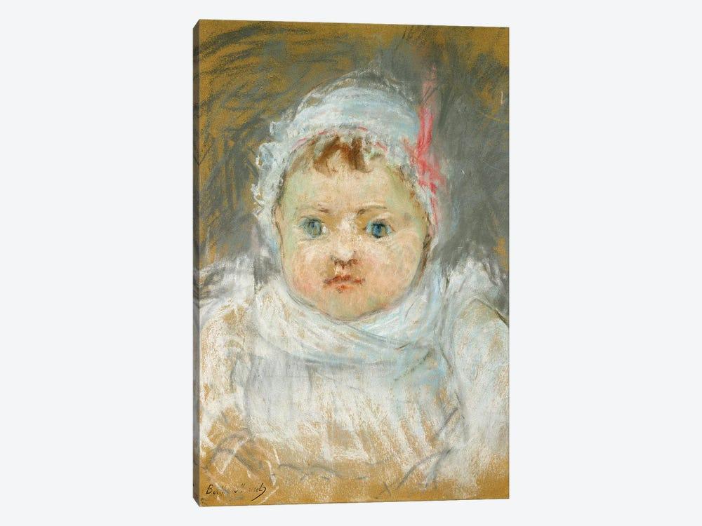 Bianche Pontillon As A Baby, 1872 by Berthe Morisot 1-piece Canvas Art