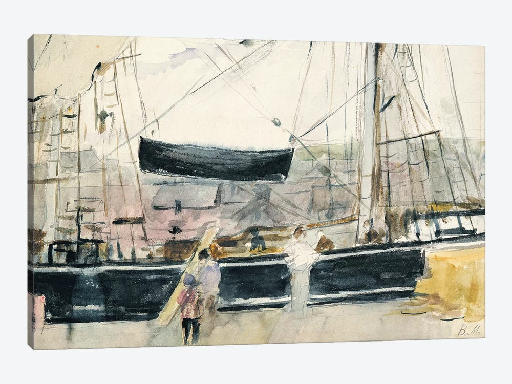 Boat On The Quay, 1875 by Berthe Morisot 1-piece Art Print