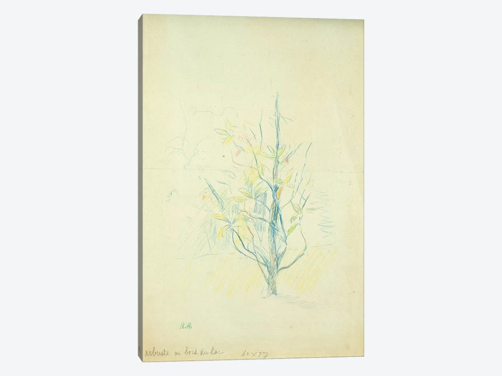 Bushes By The Lake, 1893 by Berthe Morisot 1-piece Canvas Wall Art