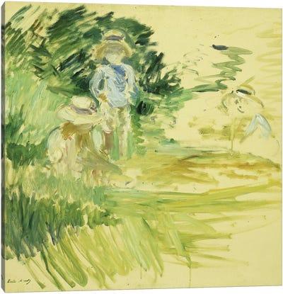 Children By The Side Of A Lake (Enfants au Bord du Lac), 1894 Canvas Art Print