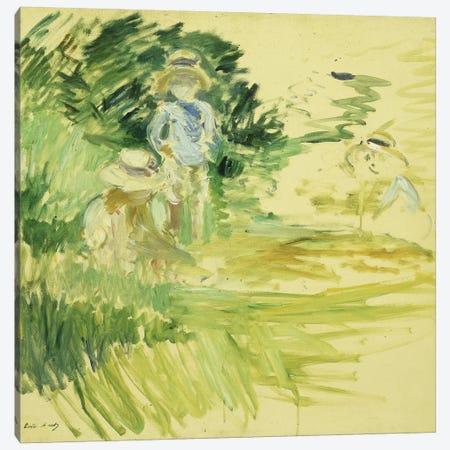 Children By The Side Of A Lake (Enfants au Bord du Lac), 1894 Canvas Print #BMN7313} by Berthe Morisot Canvas Wall Art