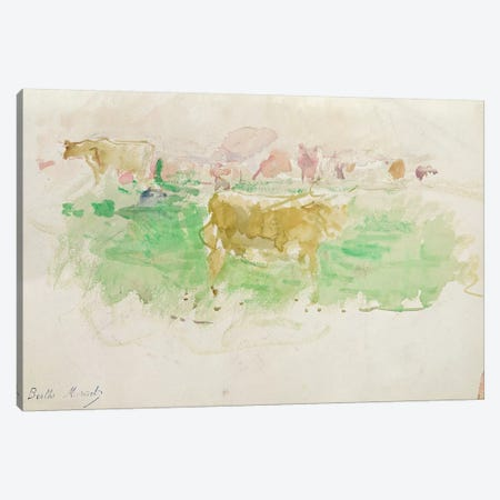 Cows In Normandy, 1880 Canvas Print #BMN7315} by Berthe Morisot Canvas Art Print