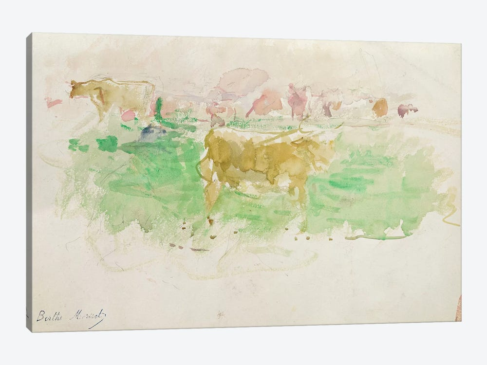 Cows In Normandy, 1880 by Berthe Morisot 1-piece Art Print