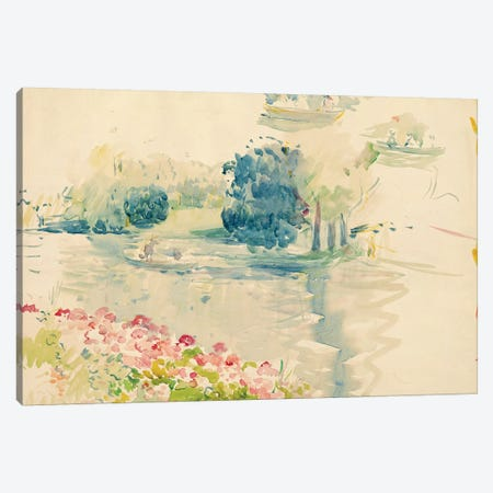Geraniums By The Lake, 1893 Canvas Print #BMN7319} by Berthe Morisot Canvas Artwork