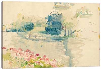 Geraniums By The Lake, 1893 Canvas Art Print