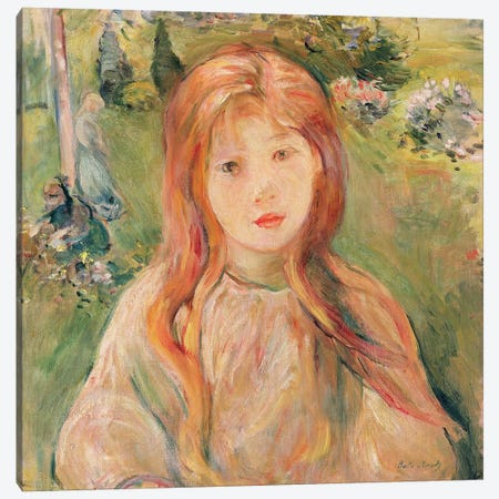 Girl At Mesnil, 1892 Canvas Print #BMN7320} by Berthe Morisot Art Print