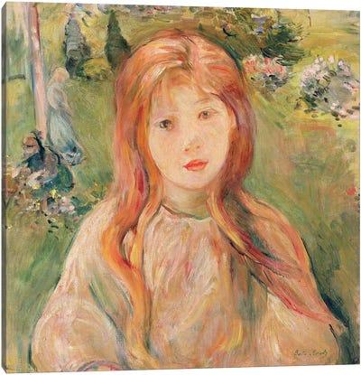 Girl At Mesnil, 1892 Canvas Art Print