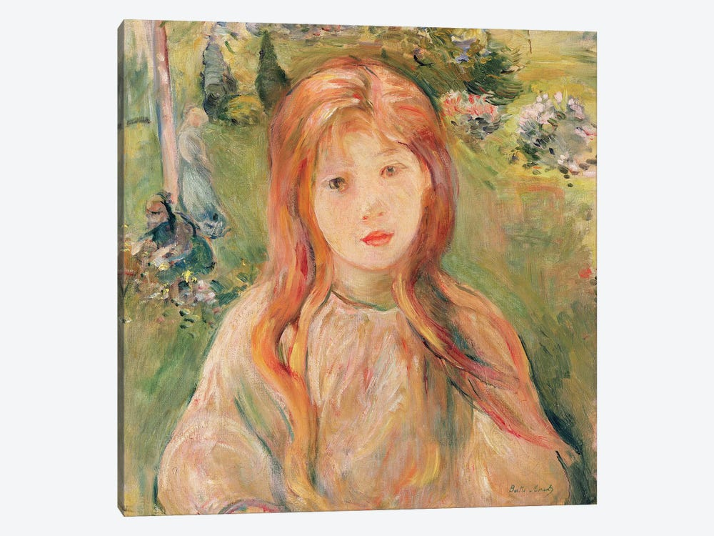 Girl At Mesnil, 1892 1-piece Canvas Art Print