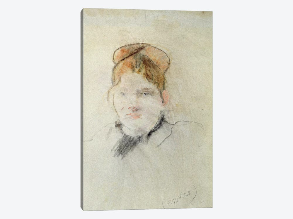 Head Of A Woman, 1886 by Berthe Morisot 1-piece Canvas Artwork