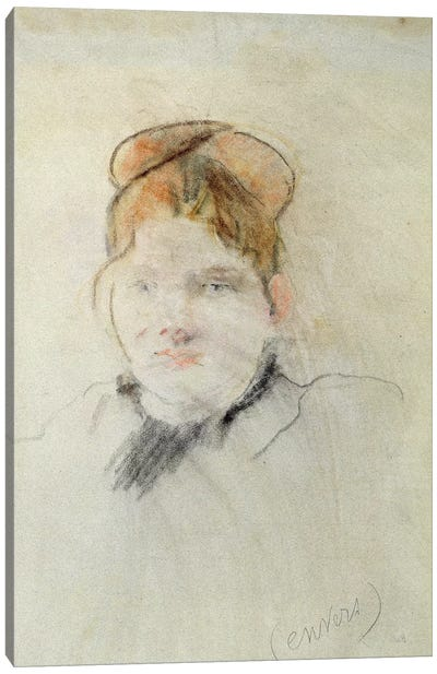 Head Of A Woman, 1886 Canvas Art Print