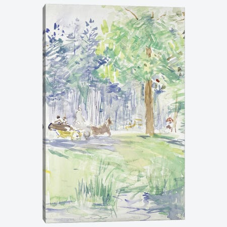 Horse And Carriage On A Woodland Road, After 1883 Canvas Print #BMN7324} by Berthe Morisot Canvas Art