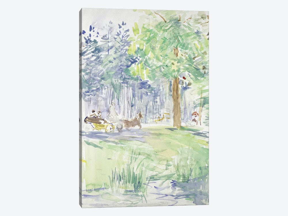 Horse And Carriage On A Woodland Road, After 1883 by Berthe Morisot 1-piece Art Print