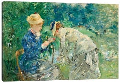 In The Bois de Boulogne, c.1875-79 Canvas Art Print