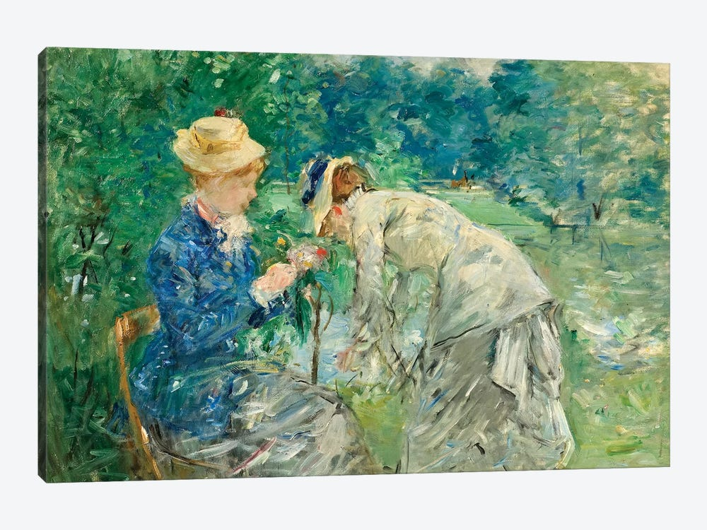 In The Bois de Boulogne, c.1875-79 by Berthe Morisot 1-piece Canvas Print