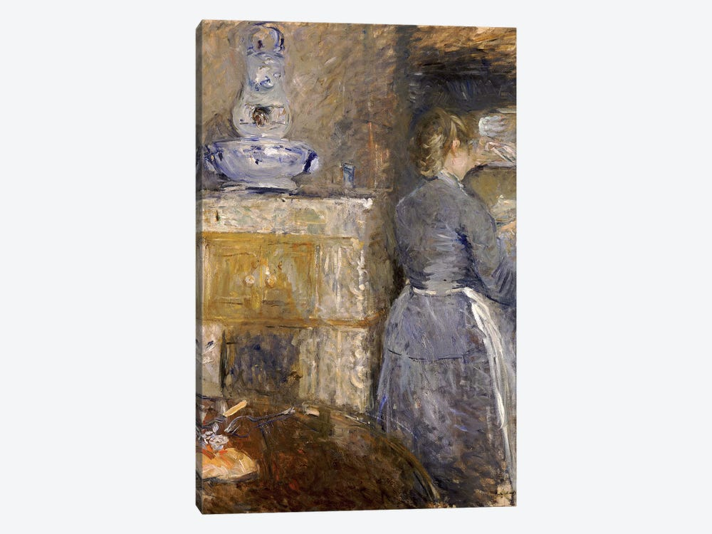 In The Dining Room (Dans la Salle a Manger), 1880 by Berthe Morisot 1-piece Canvas Artwork