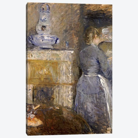 In The Dining Room (Dans la Salle a Manger), 1880 3-Piece Canvas #BMN7327} by Berthe Morisot Canvas Art