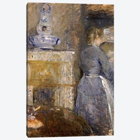 In The Dining Room (Dans la Salle a Manger), 1880 Canvas Print #BMN7327} by Berthe Morisot Canvas Art