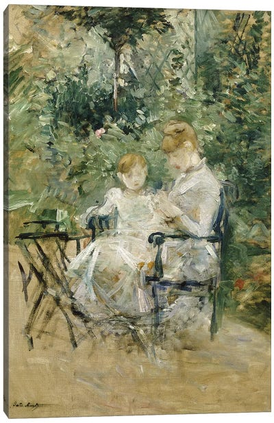 In The Garden (Dans la Jardin), c.1885 Canvas Art Print