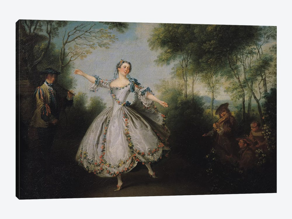 Marie-Anne Cuppi  by Nicolas Lancret 1-piece Canvas Print