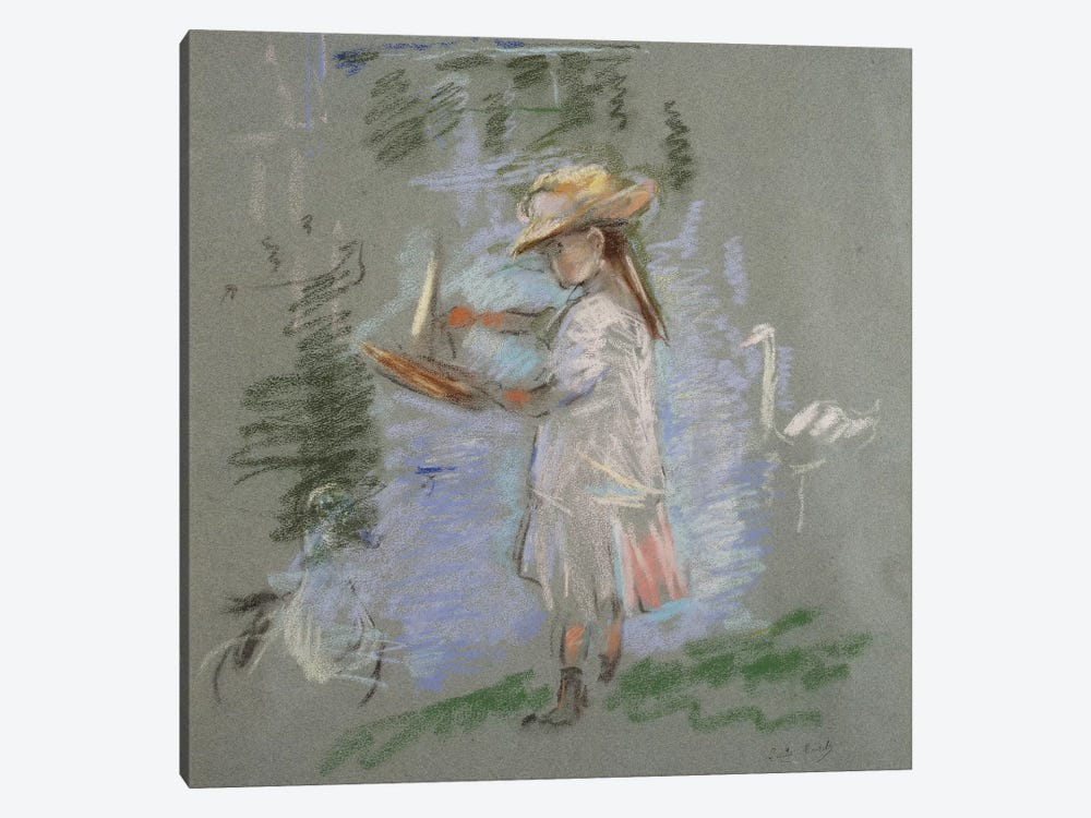 Julie In Pink By The Lakeside (Julie en Rose au Bord du Lac), 1886 by Berthe Morisot 1-piece Art Print