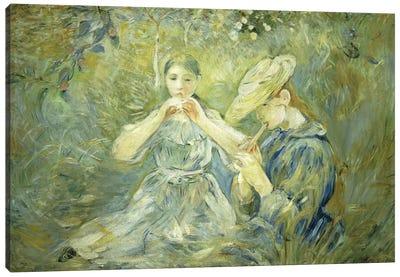 La Flageolet, 1890 Canvas Art Print